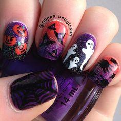 filippabengtsson nail, nail arts, nail nailart, nail design, ghost, halloween nail art, halloween nails
