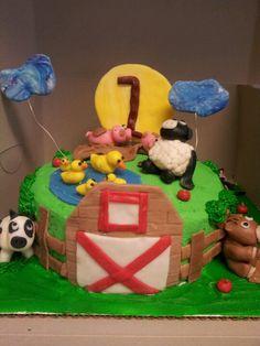 Farm animal cake animal cakes, barnyard birthday, birthday cake, farm anim, anim cake