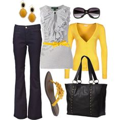 """hello yellow"" by htotheb on Polyvore"