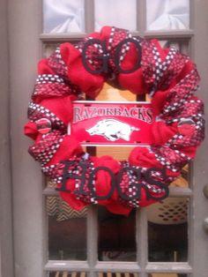 Arkansas Razorbacks Wreath on Etsy, $75.00