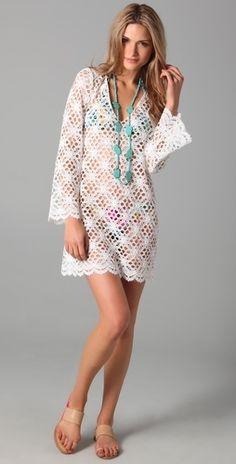 Milly Mykonos Crochet Tunic - StyleSays