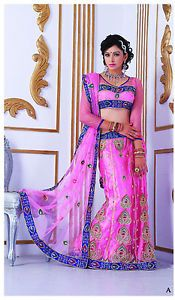 Beautiful Pink Wedding Dresses | Beautiful-Pink-Bridal-Dresses-Fancy-Partywear-Embrodiery-Lehenga-Choli ...