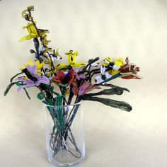 Vintage French beaded flower bouquet