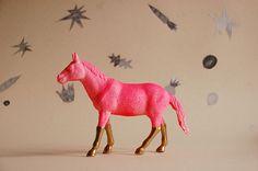 Neon & gold horse . . .
