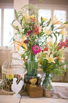 Teal-Pink-Yellow-Colorful-Birdcage-Centerpiece-3