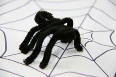 spider pipe cleaner craft