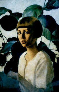 Felice Casorati (1883 –1963)  Italian #figurative #portrait #art