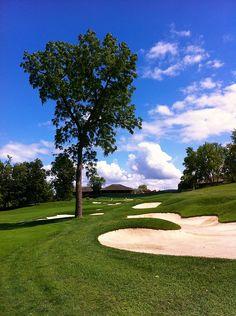 Par 4, #18 at Muirfield Village Golf Club
