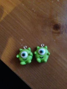 Monsters inc polymer clay charm by esmeshandmadejewelry on Etsy