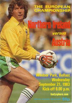 Northern Ireland v Austria - European Championship 1983 - Pat Jennings
