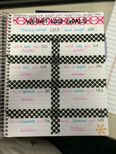 Weight loss log for Erin Condren Life Planner!!! I love this thing!