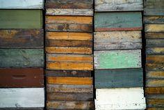 Wooden beekeeper crates