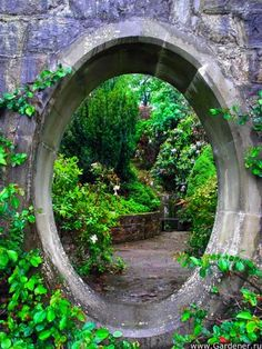 Secret garden...I'm thinking a garden gate or arched door on the front end..and this sweet little tunnel pass through on one of the trails?
