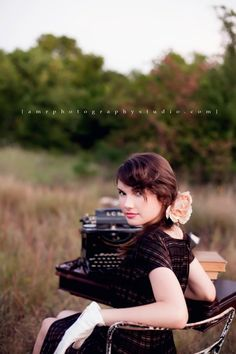I will GLADLY take a vintage typewriter to use in senior pictures, if anyone has any offers. I love everything about this