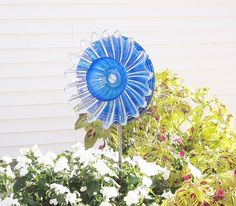 Cobalt Blue Garden Art Plate Glass Flower Yard by jarmfarm on Etsy  KATIA  (#109494743)