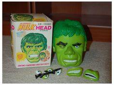 vintage rare Incredible Hulk Head mr. potato head toy 198015250