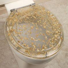 Gold Foil Standard Toilet Seat