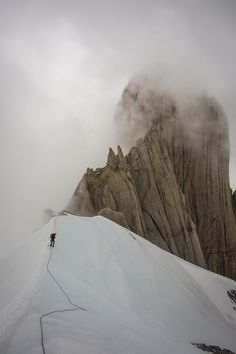 La Silla on the way down from climbing Fitz Roy. Loving life. Photo by Kate Rutherford