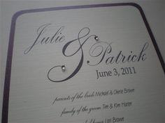 DIY Wedding Program Fan by 2CuteNot2Share on Etsy