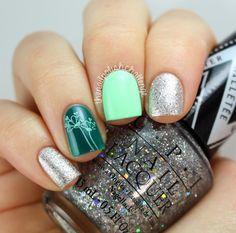 the nail polish challenge: Nail Polish Canada Bundle Monster Stamping Skittlette #nails #nailart #skittle #skittlette #green #silver #flowers
