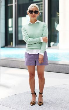 Anne Kim (InStyle Assistant Editor) in the InStyle for Nine West Cate ankle-strap pumps
