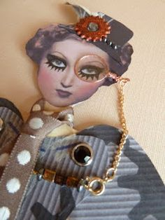 The Arty Parrot: Steampunk paper doll