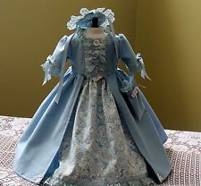 "Handmade Colonial Dress Fits 18"" American Girl Doll Felicity/Elizabeth"
