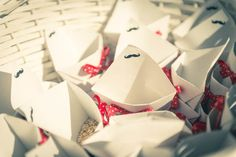 50s wedding rice cones