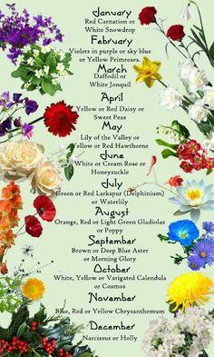 Birth month flower