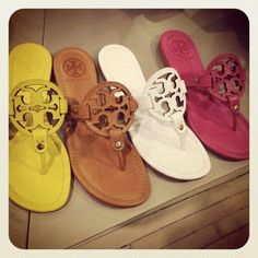 Tory Burch Sandals.. I only want one pair..in every color.