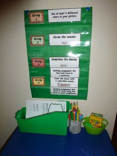 Writing center that is differentiated. Easy to set up! $