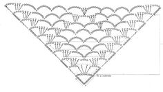 crochet Shawl diagram | Looking for an easy crochet pattern for a shawl? - Yahoo! Answers