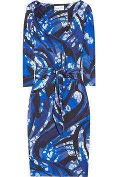 Emilio Pucci Printed silk satin-jersey dress