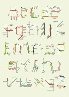 London Tube Map Alphabet