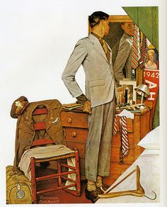 1945 - Willie Gillis, civilian - By Norman Rockwell