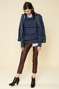 Cropped leather pants.