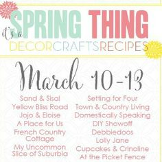 It's a Spring Thing Link Party and Giveaway
