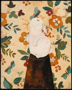 rabbit, portrait
