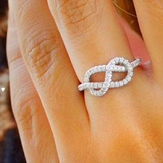 Infinity Knot Diamond Ring <3