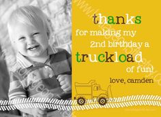 Dump Everything - Construction Truck - Printable Birthday Party Invitation - Digital Card Design File for Boy Digger 1st, 2nd, 3rd, 4th, 5th Birthday Party Trucks, Birthday Party Invitations, 1St Birthday Boy Construction, 2Nd Birthday For Boy, 2Nd Birthday Party Boy, Birthday Parties, 2Nd Birthday Boy Trucks, 2Nd Birthday Party For Boys, Card
