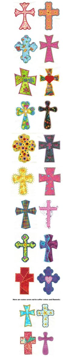 Embroidery | Free Machine Embroidery Designs| Crosses Applique