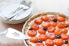 apricot tart, tarts, at home, star anis, stars, mascarpon cream, roast apricot, honey roast, apricots
