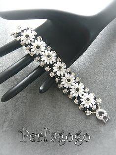 Bracelet Cachou avec perle rulla, rizo ronde et rocaille
