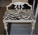 Something wild. An animal print small seat. Perfect for small spaces