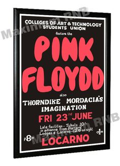 In June 1967, Pink Floyd made an appearance at the Rolls Royce Ball at the Locarno in Derby, UK. This poster has a wonderful misspelling of the bands name as Floydd!!