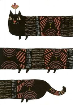 Infinity Kitty Print by Laura George. made me smile.