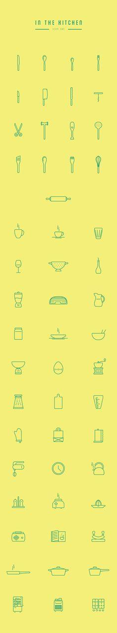 In The Kitchen icons by Wojciech Zasina