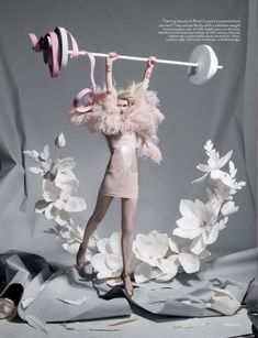 Vogue UK Origami Fantasy Art Photography for Olympic Games with Lara Mullen as model.
