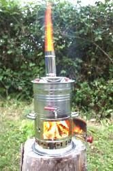 BOAT CAMPING TENT CARAVAN TEA KETTLE HOT WATER HEATER WOOD STOVE BBQ