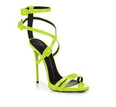 """Shoe du Jour"" 10.31.14 Giuseppe Zanotti Leather Skinny Strap Sandals « Shoefessional"